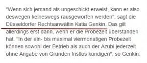 Anwalt Düsseldorf zu Arbeitsrecht Azubis