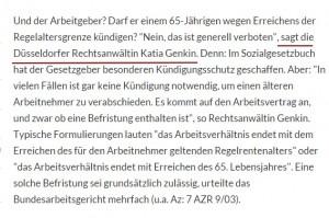 Anwalt Düsseldorf zu Arbeitsrecht Rente